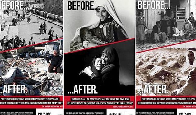 Balfour Deklarasyonu afişleri Londra'da yasaklandı