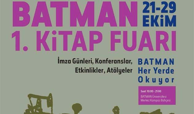 Batman 1. Kitap Fuarı yarın açılacak