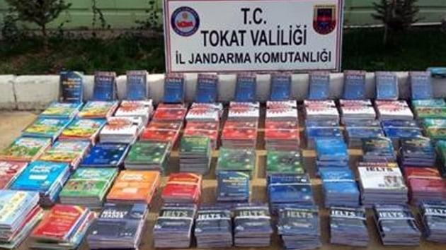 Tokat'ta 419 kaçak kitap yakalandı