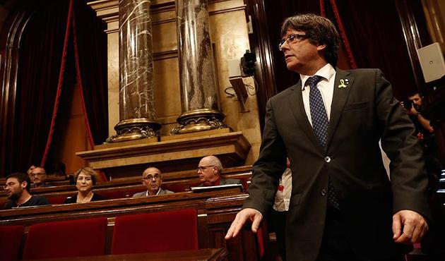 Görevden alınan Katalan lider, İspanya'ya rest çekti
