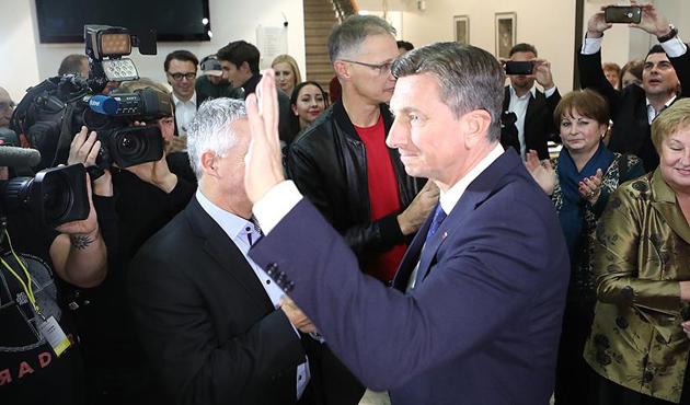 Slovenya'da Pahor, yeniden Cumhurbaşkanı seçildi