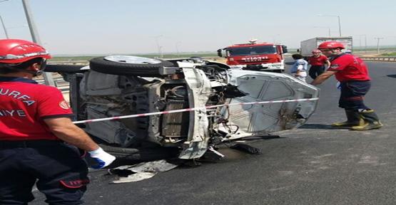 Şanlıurfa'da devrilen otomobildeki 6 asker yaralandı