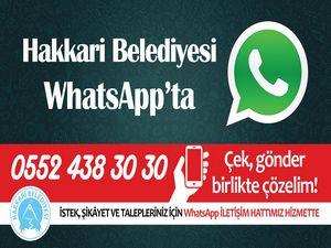 Hakkari Belediyesi 'WhatsApp iletişim hattı' kurdu