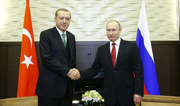 Erdoğan ile Putin'in baş başa görüşmesi sona erdi