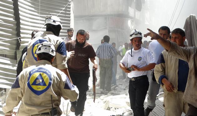 Beyaz Baretlilerden çocuklara 'patlamamış bomba' eğitimi