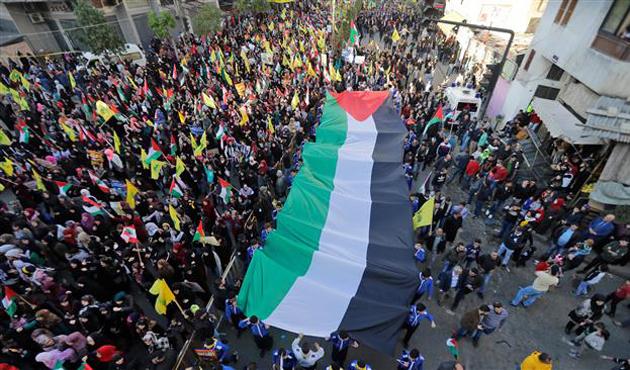 Lübnan'da Kudüs protestoları