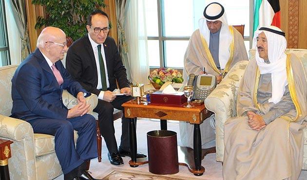 TBMM Başkanı Kahraman, Kuveyt Başbakanı Sabah ile bir araya geldi