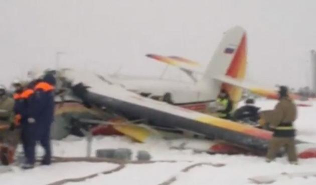 Sibirya'ya Rus askeri uçağı düştü
