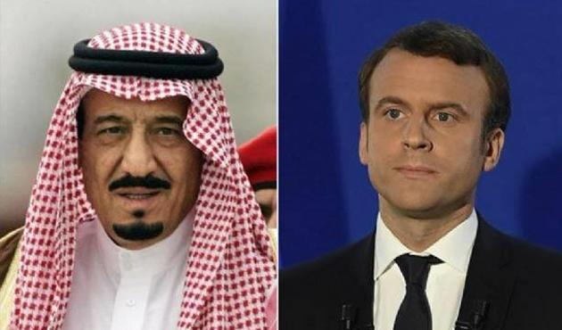 Kral Selman ve Macron telefonda görüştü