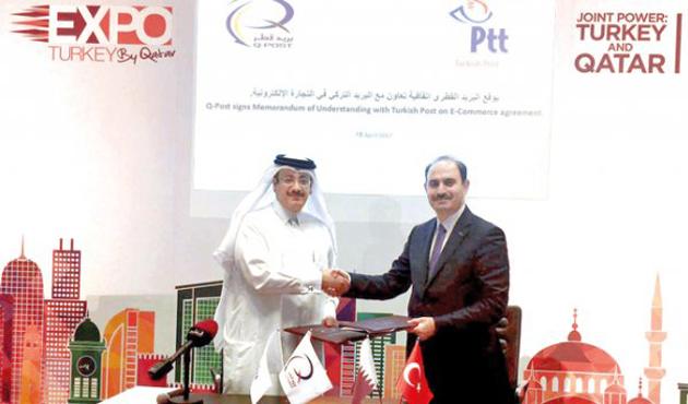 Katar'a e-ihracatın yolu PTT ile açıldı