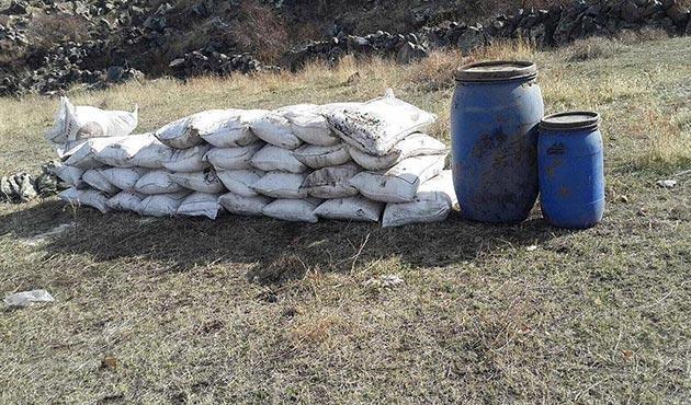 Bingöl'de 800 kilogram amonyum nitrat ele geçirildi