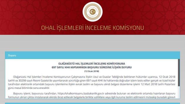 OHAL Komisyonuna başvurular 12 Mart'ta sona erecek