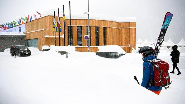 Davos'ta çığ tehlikesi