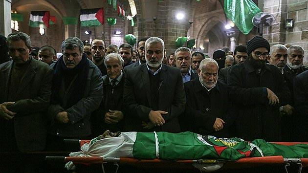 Hamas yöneticilerinden İmad Alemi son yolculuğuna uğurlandı