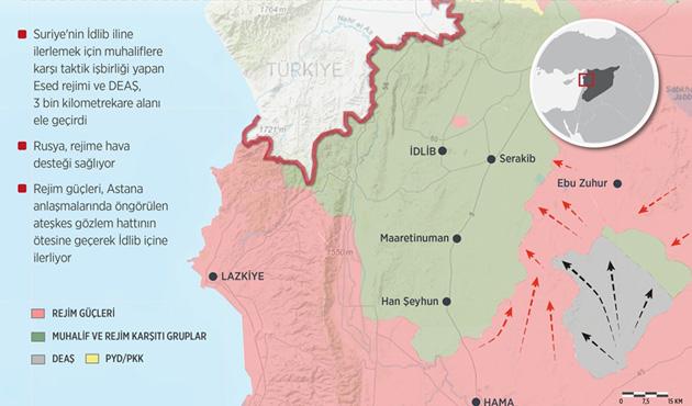 Esad ve DEAŞ İdlib'de yeni mevziler kazandı
