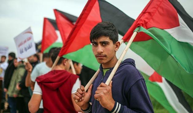 Hamas'ın çağrısı ile Gazze'de İsrail ablukası protesto edildi
