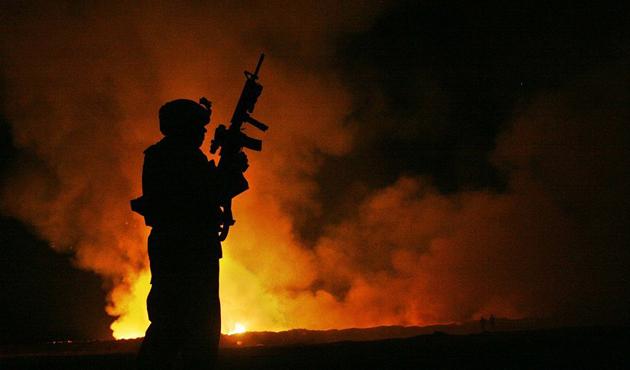Kerkük'te askeri üste yangın