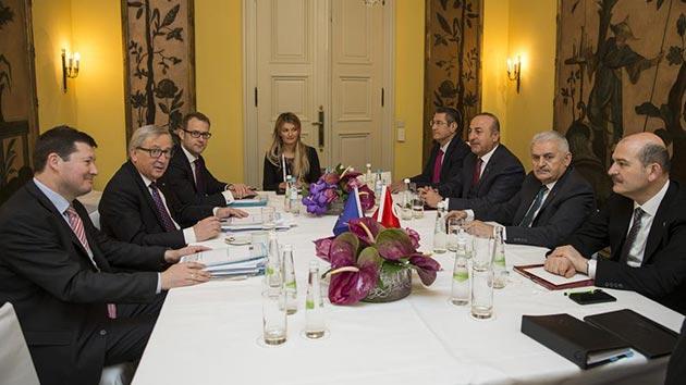 Yıldırım, Münih'te AB Komisyonu Başkanı Juncker ile görüştü