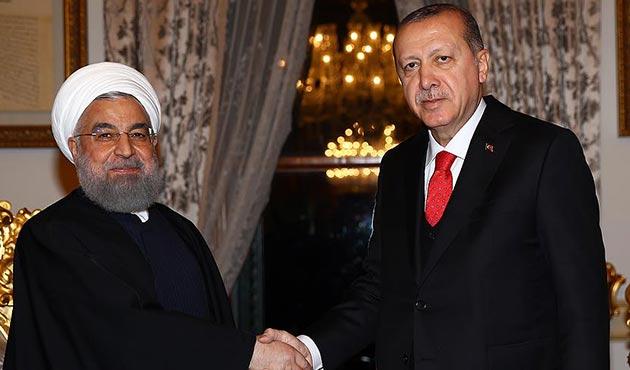 Cumhurbaşkanı Erdoğan, Ruhani ile Afrin ve Suriye'yi görüştü