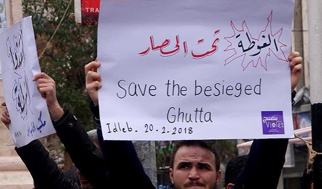 İdlib'den Doğu Guta'ya destek