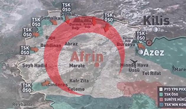 Afrin'de 'Hilal' oluştu
