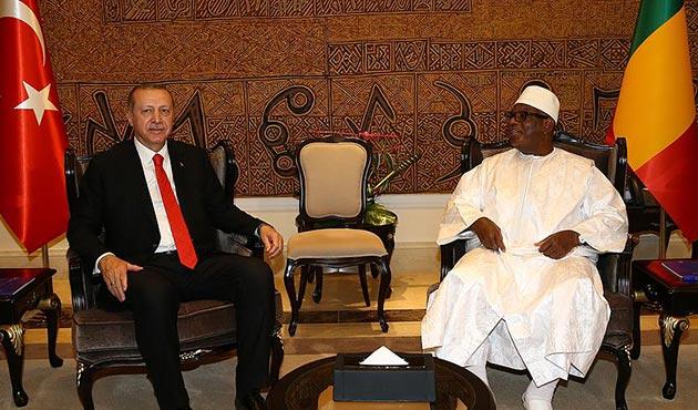 Cumhurbaşkanı Erdoğan, Mali Cumhurbaşkanı Keita ile görüştü
