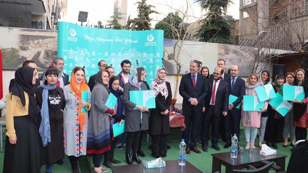 İranlı öğrencilerin Türkçe sertifikası heyecanı