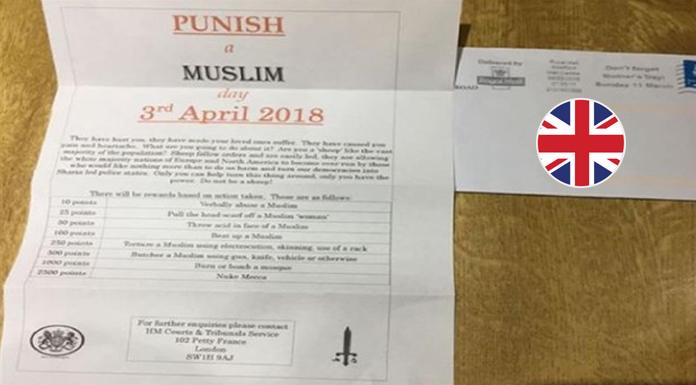 İngiltere'de 3 Nisan'da 'Bir Müslüman'ı Cezalandır' akımı