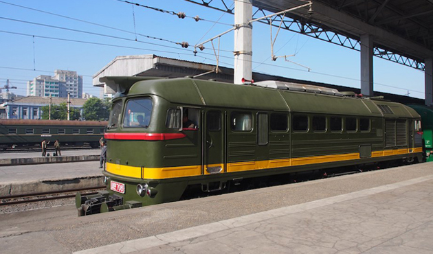 Kuzey Kore'ye ait özel bir tren Pekin'e geldi