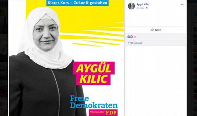 Almanya'da başörtülü siyasetçinin afişi tartışmalara neden oldu