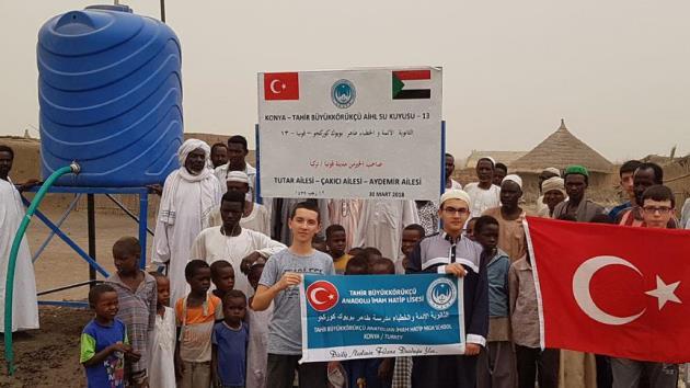 Konyalı öğrenciler Sudan'da 4 su kuyusu açtı
