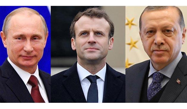 Cumhurbaşkanı Erdoğan, Macron ve Putin ile görüştü