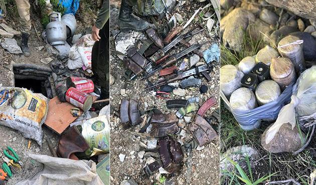 Tunceli'de PKK'ya ait 9 sığınak imha edildi