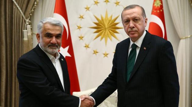 Erdoğan, HÜDA PAR Genel Başkanı Yapıcıoğlu'nu kabul etti