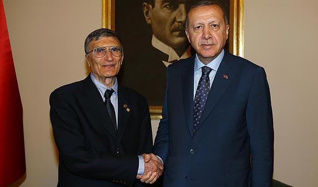 Cumhurbaşkanı Erdoğan, Aziz Sancar'ı kabul etti