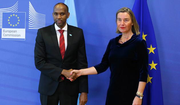 Somali Başbakanı Hasan Ali Hayri, Brüksel'de