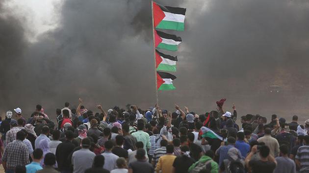 Gazze'de İsrail güçleri ateş açtı: 55 Filistinli şehit oldu
