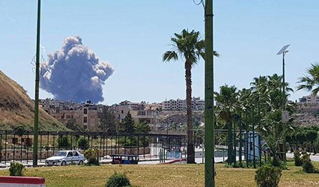 Suriye'de askeri havalimanı yanında patlama