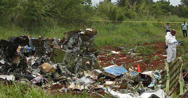 110 kişinin öldüğü Küba'da düşen uçağın kara kutusu bulundu