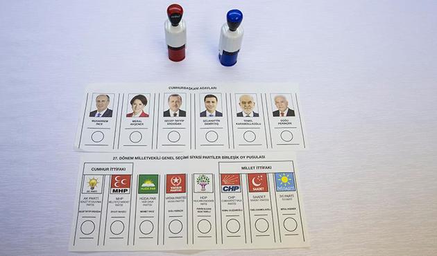 24 Haziran'da kullanılacak oy pusulaları ortaya çıktı