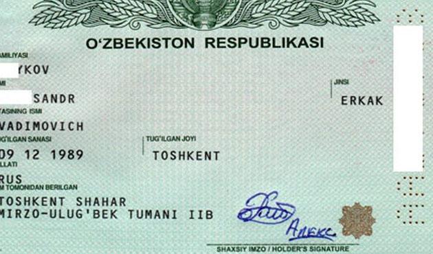 Özbekistan pasaportuna değişiklik önerisi