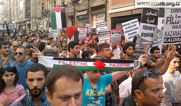On binler Filistin için Taksim'de toplandı
