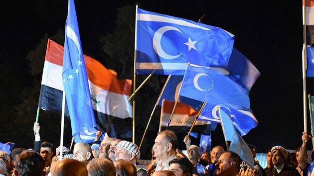 Kerkük'teki Türkmenlerin seçim protestosunda 3'üncü hafta