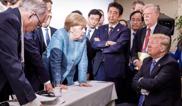 G7'deki krizin nedeni Trump'ın Merkel'e şeker fırlatmasıymış!