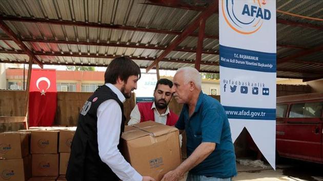 AFAD'dan Erbil'deki Türkmen ailelere gıda yardımı