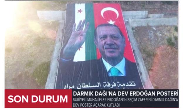 ÖSO Darmık Dağı'nı Erdoğan'la süsledi