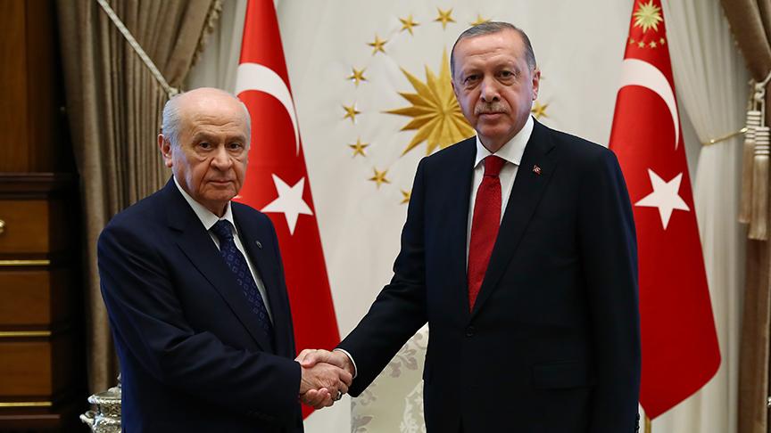 Erdoğan ve Bahçeli'den 40 dakikalık yeni dönem zirvesi