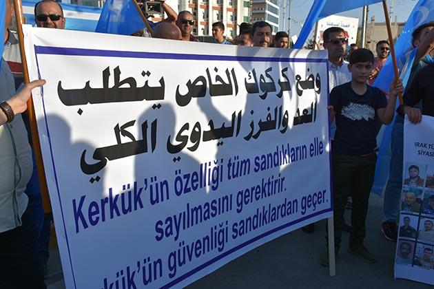 Türkmenler Kerkük'te oyların elle sayılmasını istiyor