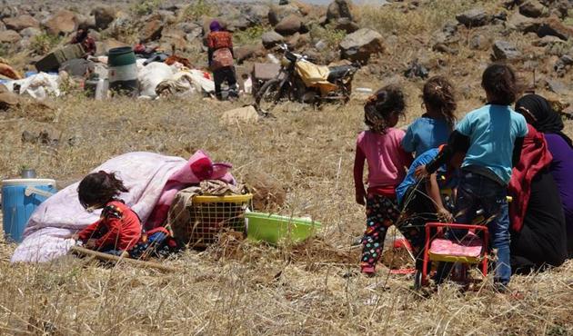 Dera'daki zorunlu göç dalgası büyüyor
