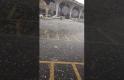 Medine'de Mescidi Nebeviye dolu yağdı